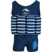 Costum inot copii cu sistem de flotabilitate ajustabil blue stripe