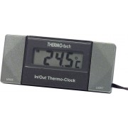 Termometru de interior si exterior cu ceas Herbert Richter