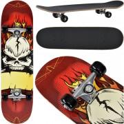 [pro.tec] Monopatín Skateboard para el cruising en la ciudad y el parque - 79 x 20,5 x 13,5 cm - Retro Board (calavera)