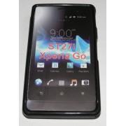 Силиконов гръб ТПУ за Sony Xperia Go ST27i Черен