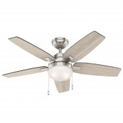 Hunter Arcot fan with light, light grey/grey