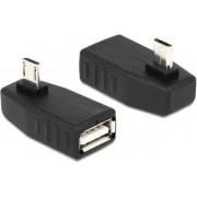 Adapter DELOCK, USB 2.0 (Ž) na micro USB (M) pod kutem 90°, OTG