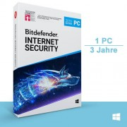 Bitdefender GmbH Bitdefender Internet Security 2017 & 2018, 1 PC - 3 Jahre, Download