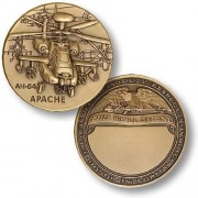 Ah 64 Apache Engravable Challenge Coin