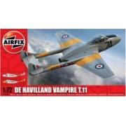 Kit aeromodele Airfix 02058 Avion De Havilland Vampire T.11 Scara 1 72