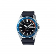 Reloj Casio MTD120 MTD120-1AV Metal Caucho Fechador - Plateado / Negro