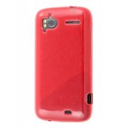 HTC Sensation Frosted Colour TPU Gel Case - HTC Soft Cover (Red)