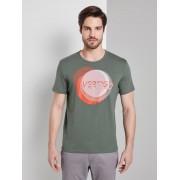 TOM TAILOR Geprint T-Shirt, Pale Bark Green, S
