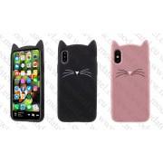 Аpple iPhone X / iPhone 10 (силиконов калъф) 'Cat Style'