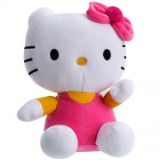 JassiInternational Hello Kitty Soft Toy Character Specially Designed For Kids To Carry Everywhere Stuff | Attractive Designer and Stylish | Perfect for Gifting Purpose | Return Gift | Birthday Gifts (Dark Pink, 26cm)