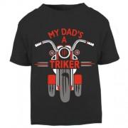 F-My Dad is a biker triker trike toddler baby childrens kids t-shirt 100% cotton