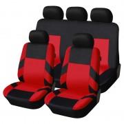 Univerzális üléshuzat garnitúra fekete-piros (osztható) Exlusive