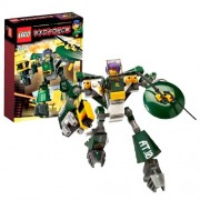 Lego Year 2007 Exo-Force Series Mecha Vehicle Figure Set # 8100 - CYCLONE DEFENDER with Laser Blaster and Rotating Defensive Shield Equipped with 2 Swords Plus Ryo Minifigure and Special Web Code (Total Pieces: 93)