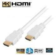 Cabo HDMI de Alta Velocidade com Ethernet Goobay - 0.5m - Branco