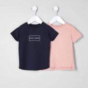 River Island Baby Boys Navy 'mayhem' T-shirt multipack (Size 3 - 6 Mths)
