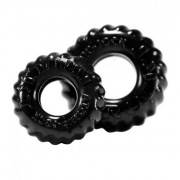 Oxballs [2 Pack] Truck Tire Cock & Ball Ring Black OXAJ1049