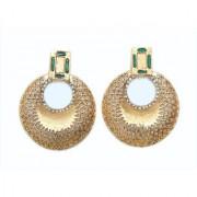 Indian Style Beaded Dangle Drop Fashionable Earrings Traditional Jhumka Jhumki Earrings for Women 22 GREEN
