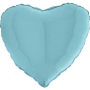 dm_logo Pastel Blue Foil Heart 24in/60cm