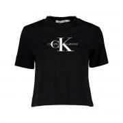 Calvin Klein T-SHIRT MONOGRAM CROP DONNA