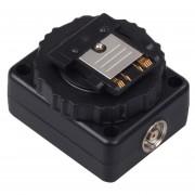 Interface Hot Shoe Converter HC-511 Para Canon Camera Flash (Negro)