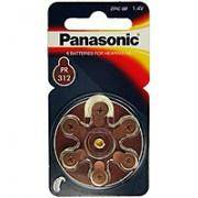 Panasonic® PAn PR 312 Batterien für Hörgeräte 6 St