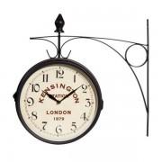 Maisons du monde Reloj de pared de metal negro KENSIGNTON