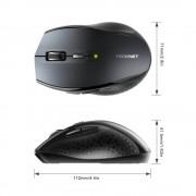 TeckNet M022 Black 2.4G Wireless Mouse - ергономична безжична мишка (за Mac и PC)