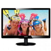"""Монитор 19.5"""" (49.53 cm) Philips 200V4LAB2, TN панел, HD +LED, 5 ms, 10 000 000:1, 200cd/m2, DVI"""