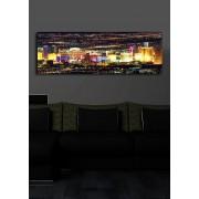 Tablou pe panza iluminat Shining, 239SHN1204, 30 x 90 cm, panza
