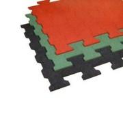Zelená gumová zámková dlažba ZD1/15 - délka 112 cm, šířka 100 cm a výška 1,5 cm