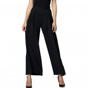 E-Thinker Pantalones Largos Suelto Casual Sólido Color Nergo