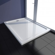 vidaXL Obdĺžniková sprchová vanička z ABS, biela 80 x 110 cm