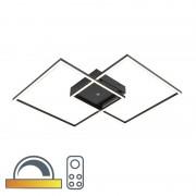 Paul Neuhaus Plafon czarny 25W LED z pilotem - Plazas 2