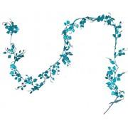 Kotak Sales Artificial Long Hanging Decoration Heart Shape Glittering Plant Leave Vine Flower 1.6M ,Blue