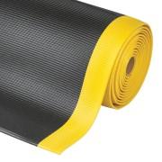 Černo-žlutá průmyslová protiúnavová metrážová rohož - šířka 122 cm a výška 1,27 cm