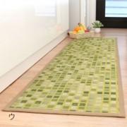 袋織 い草マット(タイル柄) 約48×180cm[添島勲商店]
