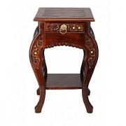Wooden Hand Carved Side Table Stool