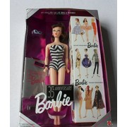 Mattel Barbie 35Th Anniversary Doll Special Edition Reproduction Of Original 1959 Barbie Doll & Package! - Brunette Hair (1993)