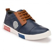 Big Fox Men's Blue Lace-up Sneakers
