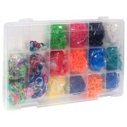 Discount Deals Loom Rainbow Rubber Band Complete Collection Organizer Storage Kit With 4000 Rainbow Rubber Bands