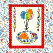 Wenskaart - Baby met ballonnen 063