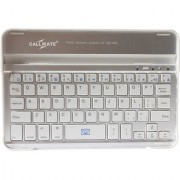Callmate Aluminum Shell Bluetooth Keyboard Snap On Case Stand For Apple iPad Mini (White)