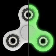 Jucaria Fidget Spinner Antistres culoare Alb Fosforescent Tri-Spinner