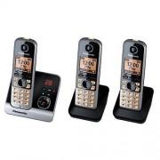 Panasonic Téléphone sans fil de Panasonic KXTG 6723 GB trio avec 2 Mobilte su...