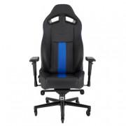 Silla Corsair Gaming T2 Road Warrior/ Reclinable/ Ajustable 4D/ Negro-Azul, CF-9010009-WW
