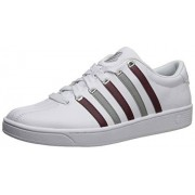 K-Swiss Court Pro II CMF Zapatillas para Hombre, White/Mahogany/Neutral Gray, 13 US