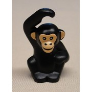 DEAL OF THE DAY!!! DO NOT MISS OUT!x1 NEW Lego Chimpanzee Animal Scratching Head BLACK City Minifig Zoo