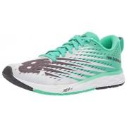 New Balance Women's 1500v5 Running Shoe, white/neon emerald, 6.5 B US