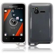 Sony Ericsson Xperia active Силиконов Калъф Бял TPU + Протектор