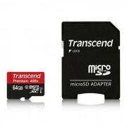 transcend 400X 64GB UHS-I microsd con adaptador sd TS64GUSDU1